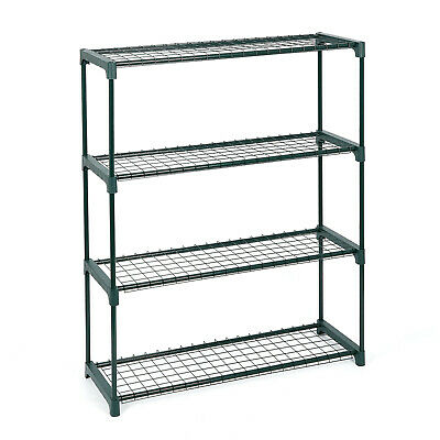 £16.95 • Buy Large 4 Tier Garden Stand Shelving Rack Racking Display Flowers Greenhouse Plant