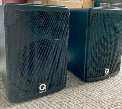 £48 • Buy PAIR OF Q ACOUSTICS 1010i  SPEAKERS. Excellent Sound, Tiny Package. Unique Grill