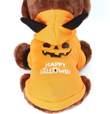 £5.59 • Buy Pet Cat Halloween Costume Dog Small Coat Outfit Clothes Hoodie Jumper Cute Gift