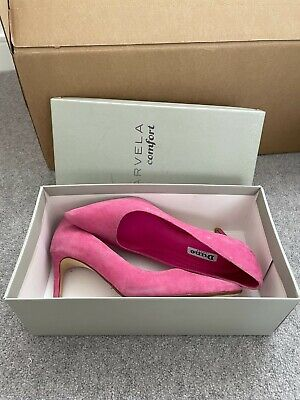 £14.50 • Buy Stunning Dune Fuchsia Pink Court Shoes Suede Heels Pumps In Box RRP £65 Size 37