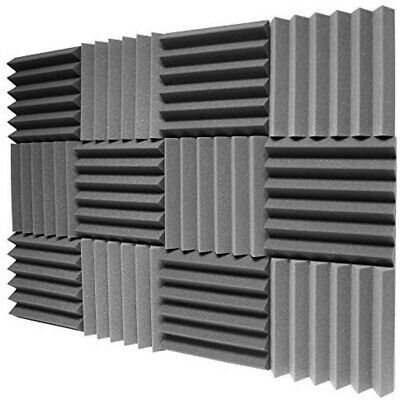 £18.99 • Buy 12 Pack Acoustic Panel Tiles Sound Proofing Foam Pads Wall Treatment Home Studio