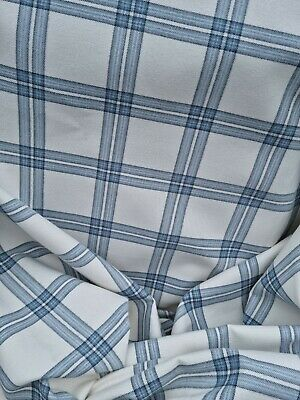 £70 • Buy Door Curtain Thermal Lined In Laura Ashley Blue Check Fabric