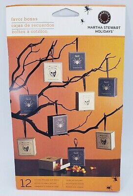 £10.97 • Buy Martha Stewart Favor Boxes Spider Skull Halloween 12 Count NEW Ships Free