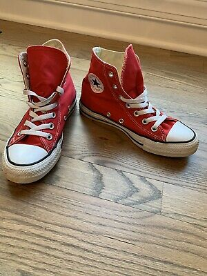 £14.46 • Buy Converse Chuck Taylor High Top Red Sneakers Shoes Mens Size 4- Women Sz 6 M9621