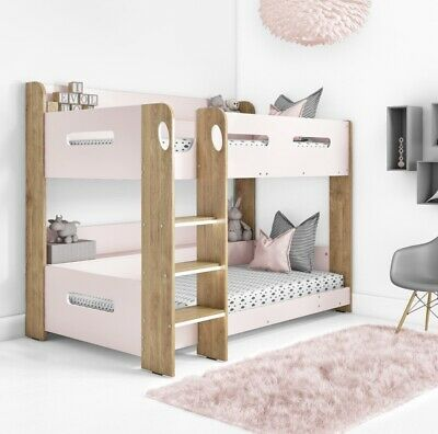 £399.95 • Buy Girls Bunk Bed In Pink And Oak