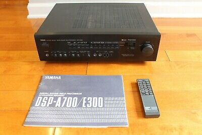 £94.56 • Buy Yamaha DSP E-300 5 Channel Stereo Amplifier W/ Manual & Remote UNTESTED AS IS
