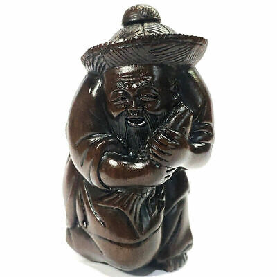 £58.88 • Buy M7469-Collectible 20 Years Old 6.5 CM Hand Carved Ironwood Figurine - Fisherman