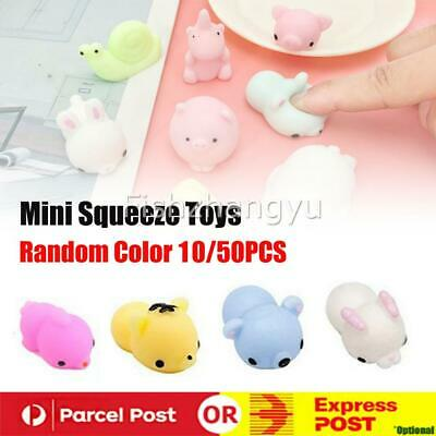 AU11.95 • Buy Kawaii Mini Animal Stress Relief Mochi Squishy TPR Squeeze Toys For Kids Adults