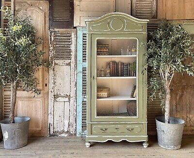 £895 • Buy Gorgeous French Handpainted Armoire / Linen Press