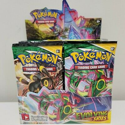 $69.95 • Buy [10 PACKS] EVOLVING SKIES Booster Pack Lot Factory Sealed From Box Pokemon Cards