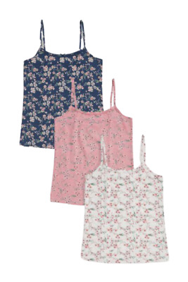 £9 • Buy NEXT Vests Girls 3 Pack White Pink Stripes Spots Hearts Size 9-10 Years BNWT