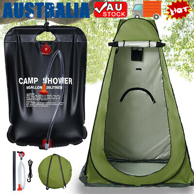 AU32 • Buy Portable Pop Up Outdoor Camping Tent Shower Change Room With Shower Bag AU Stock