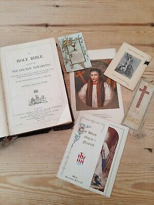 £22.95 • Buy Holy Bible 1864 Antiquarian Book George E Eyre & William Spottiswoode & Cards
