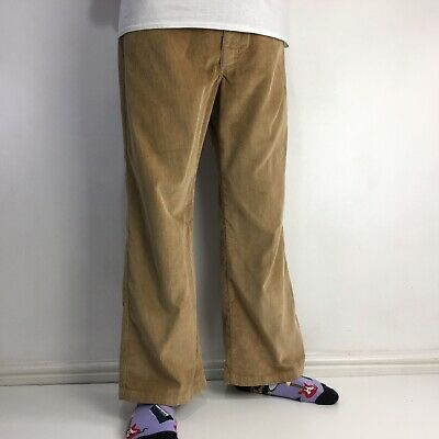 £22.95 • Buy Vintage LEE Corduroy Trousers Flared Tan W36 L28 Made In USA 70's Retro