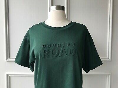 AU34.95 • Buy | COUNTRY ROAD | Modern Embossed Logo T-shirt Bottle Green | NEW | SIZE: XS,XL |