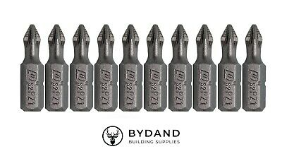 £3.29 • Buy PZ1 PoziDriv Impact Driver Screwdriver Bits (25mm) - 10 Pack - ISO CERTIFIED