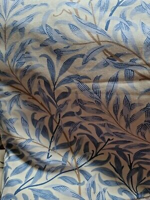 £125 • Buy Door Curtain Thermal Lined In William Morris Willow Boughs Blue
