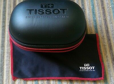 £25 • Buy Tissot Black And Red Watch Storage/travel Box With Cushion & Branded Logo Cloth.