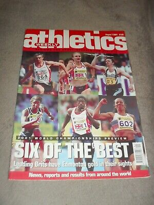 £0.99 • Buy Athletics Weekly Issue August 1st 2001 2001 World Championships
