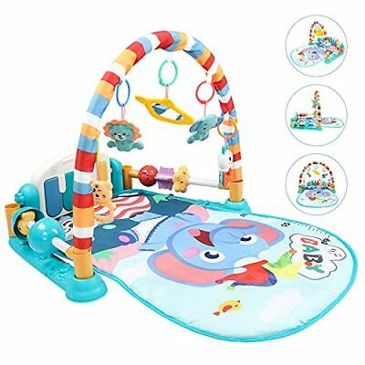 £41.99 • Buy Baby Playmat Kick And Play Piano Gym With Fun Animals Pendants, Mirror,
