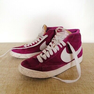 £7.50 • Buy Nike Blazer Mid Pink Suede Trainers Size 5 UK