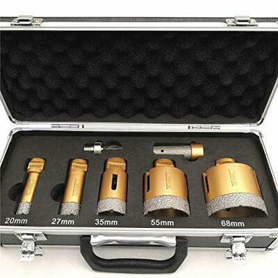 AU336.66 • Buy SHDIATOOL Diamond Drill Core Bits Kit With Box 20/27/35/55/68mm And A 20mm