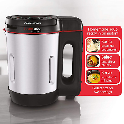 £24.99 • Buy Morphy Richards 501027 900 W 1 L Compact Stainless Steel Saute And Soup Maker