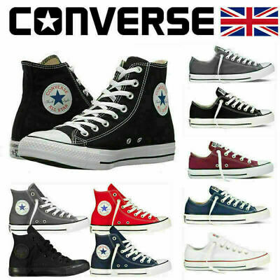 £25.98 • Buy Converse Women Men Unisex All Star Hi Top Chuck Sneakers Taylor Trainers Shoes