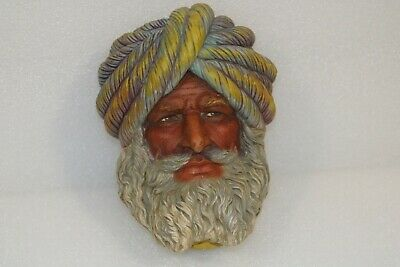 £12.99 • Buy Vintage Chalkware Head Sikh Turban Asian Collectible Bossons ? Unmarked