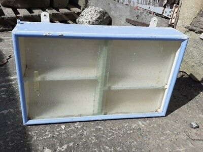 £25 • Buy Vintage Retro 1950/60s Blue Wall Kitchen Cabinet Cupboard Glasses Cups Storage