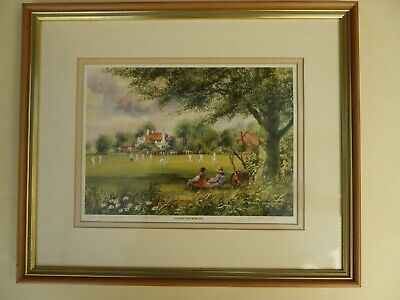 £25 • Buy Terry Harrison Framed Signed Print The Barley Mow, Winchfield  Caught & Bowled