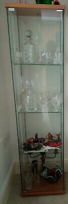 £45 • Buy IKEA DETOLF Glass Display Cabinet, Wood Top And Base, Good Condition.