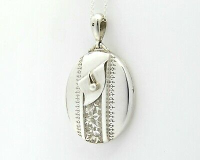 £170 • Buy Large Sterling Silver Victorian Locket Necklace