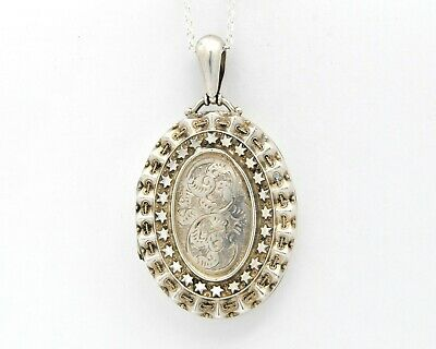 £150 • Buy Large Sterling Silver Victorian Locket Necklace