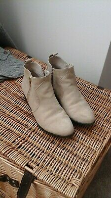 £4.99 • Buy Red Herring Beige Ankle Boots 5 38