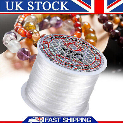 £4.71 • Buy 60m Strong Elastic Stretchy Beading Thread Cord For DIY Bracelet String Making