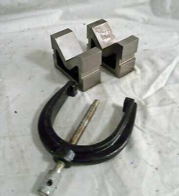 £9.99 • Buy Matched Pair Of 'V' Blocks With Clamp.