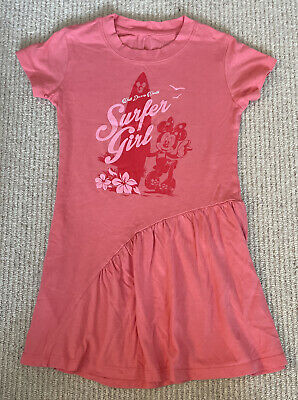 £0.99 • Buy Girls Disney World Minnie Mouse Coral Dress Age 5-6 Years