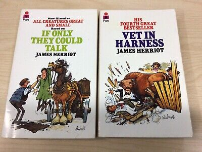 £3 • Buy 2 X JAMES HERRIOT Paperback Pan Books: If Only They Could Talk & Vet In Harness