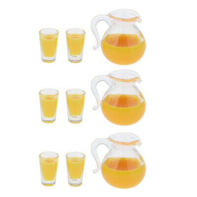 £7.38 • Buy Lots 3 1:12 Scale Mini Glass Cup Set Bottles Food Dolls House Ornament