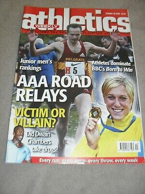 £0.99 • Buy Athletics Weekly Issue October 29th 2003 Dwain Chambers
