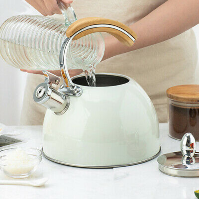 AU31.99 • Buy 2.5L White Stainless Steel Stove Top Camping Kitchen Picnic Tea Teapot Kettle