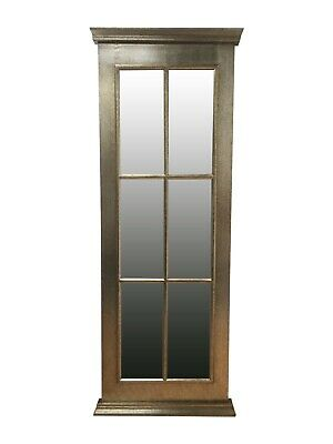 £99 • Buy Large Window Mirror Glass Wood Antique Silver  Shabby Chic Wall Free Standing