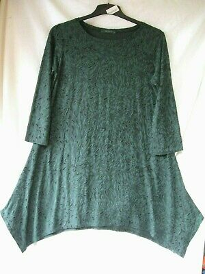 £7.28 • Buy CUT LOOSE Fab Arty Relaxed Fit Forest Green Textured Jersey Tunic CH 44  GC L