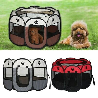 £14.99 • Buy Large Portable Pet Dog Cat Playpen Tent Oxford Fabric Fence Kennel Cage Crate!~