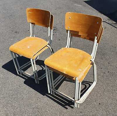 £9.95 • Buy Retro Style School Chairs X 5, Selling For Restoration.