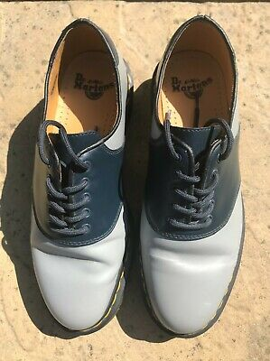 £50 • Buy Dr Martens Limited Edition 'Rafi' Shoes Size 8 Blue And Grey Two-tone