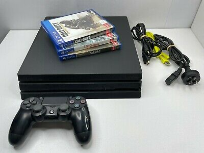 AU429.95 • Buy Sony Playstation 4 (PS4) PRO 500GB SSD 4K Console + Controller, Leads & 3 Games!