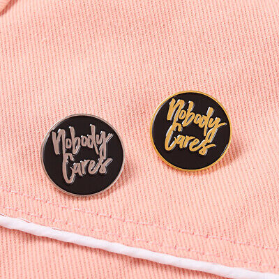 £1.43 • Buy Personality Trend Round Letter Brooch Inspirational Life Motto Enamel Pin Badge