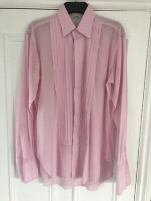 £22 • Buy Budd Shirtmakers Voile Pink Evening Pleated Front Shirt Size 15.5 - Stunning
